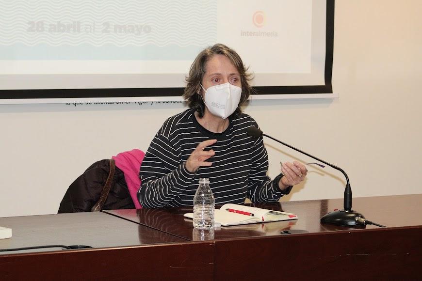 Marta Sanz durante su intervención.