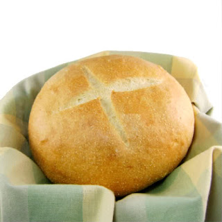Portuguese White Cornmeal Bread - Pão a Moda de Sao Miguel