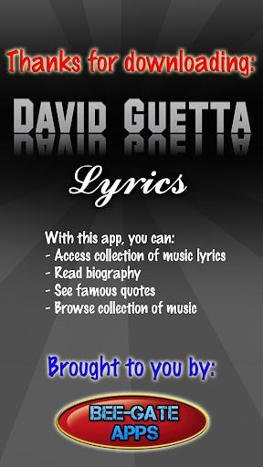 David Guetta Lyrics