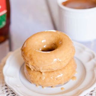 Baked Maple Doughnuts.