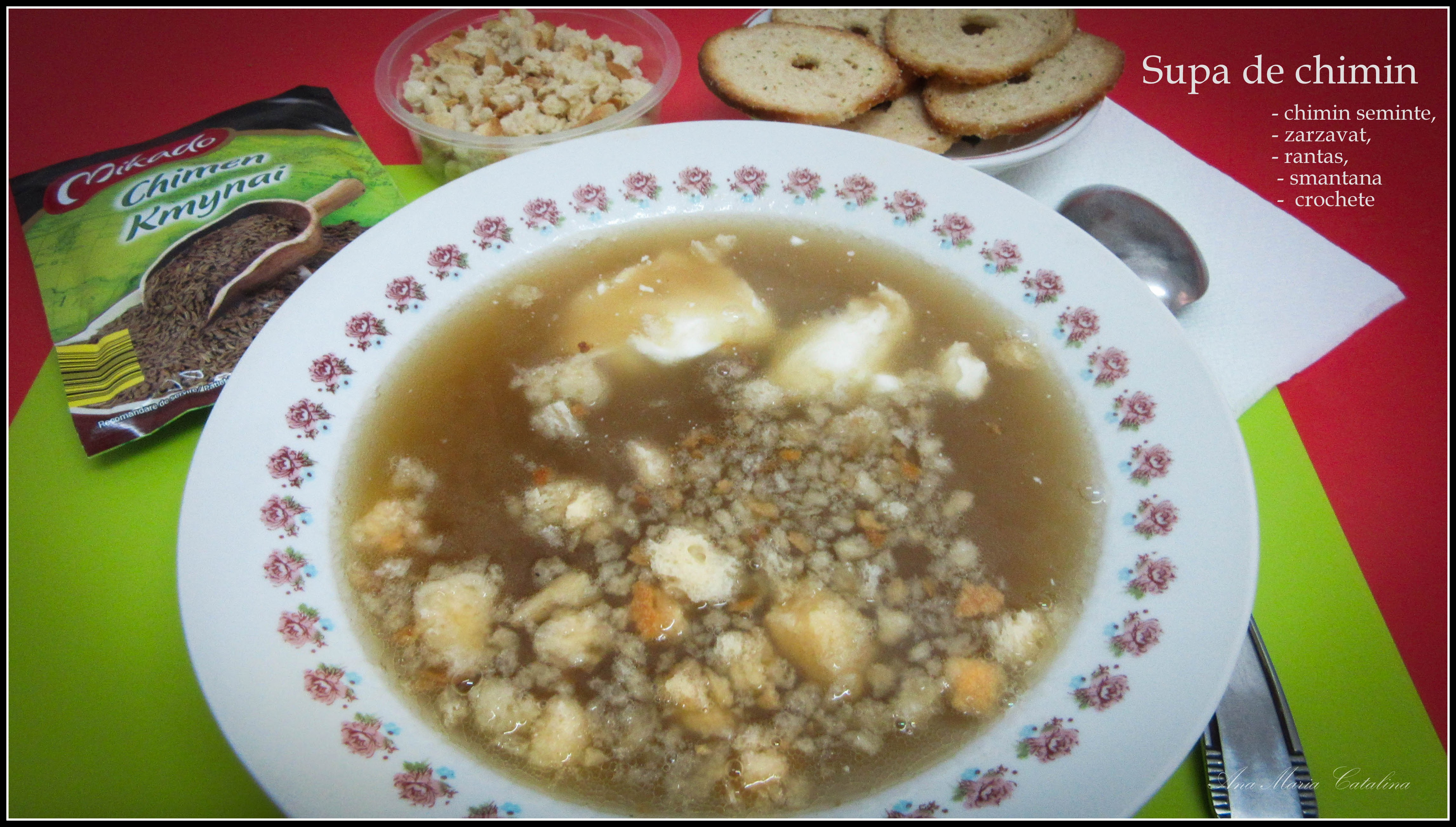 Photo: Supa de chimin - chimin seminte, zarzavaturi, rantas, smantana, crochete  - 2017.05.09