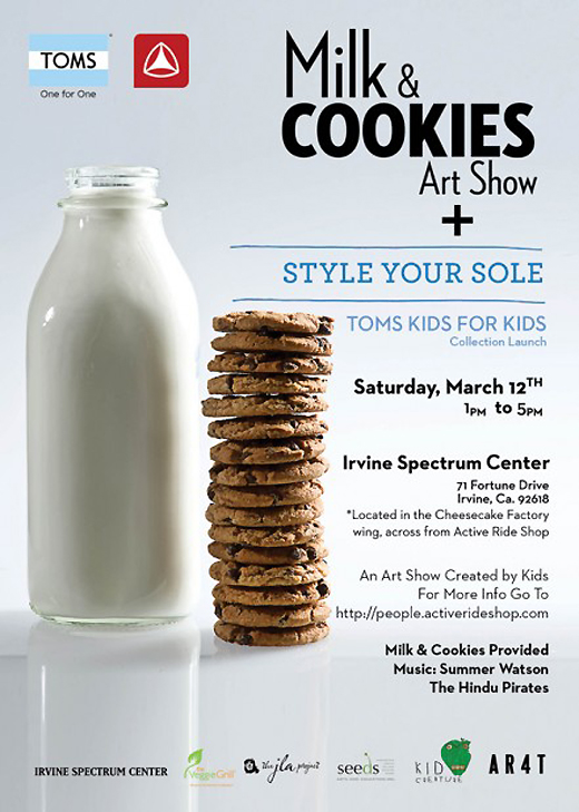 Milk amp cookies art show and toms shoes for kids launch popsicle blog