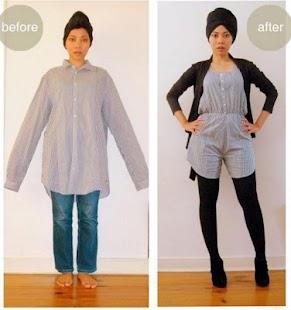 přetvořit oblečení Tutorial - náhled