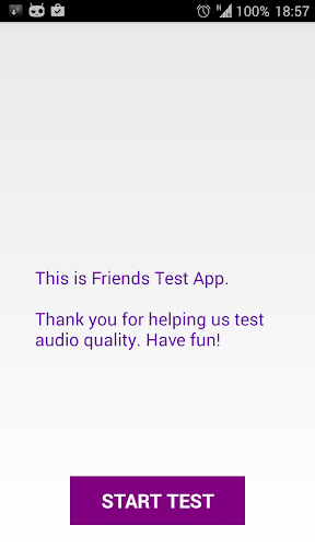 Friends test app