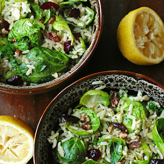 Brussels Sprouts with Lemon and Brown Rice Recipe
