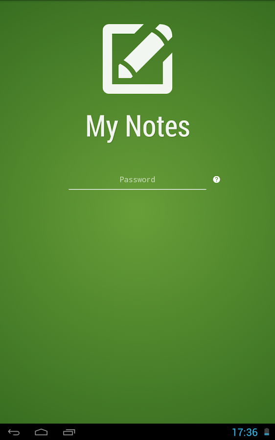 My Notes - Notepad - screenshot