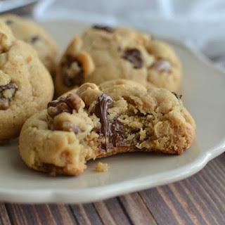 Double Peanut Butter Walnut Cookies