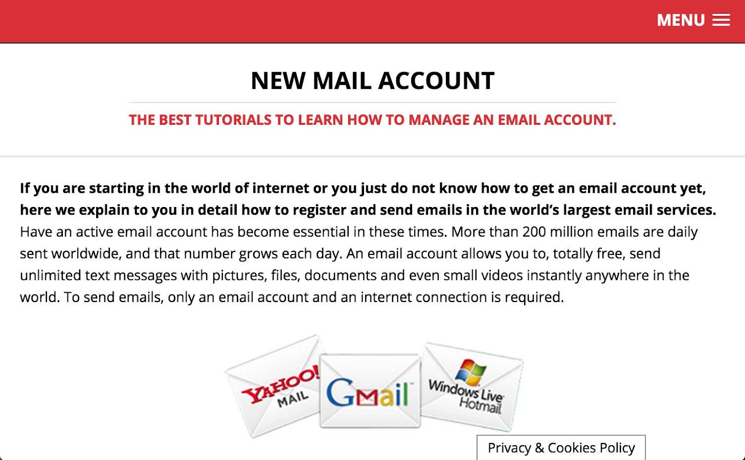 Mail Account- screenshot