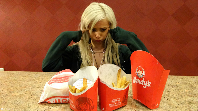 fueling up with some Wendy's at Anime North 2014 in Mississauga, Ontario, Canada