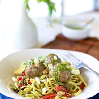 Lamb Meatballs & Mint Pesto Linguine