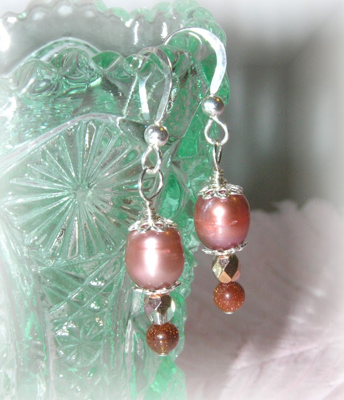 Genuine Goldstone Earrings