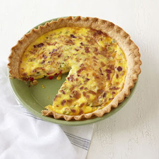 Cheese and Bacon Quiche.