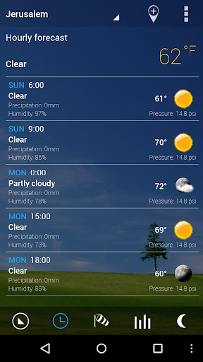 Transparent clock & weather app (apk) free download for Android/PC/Windows screenshot