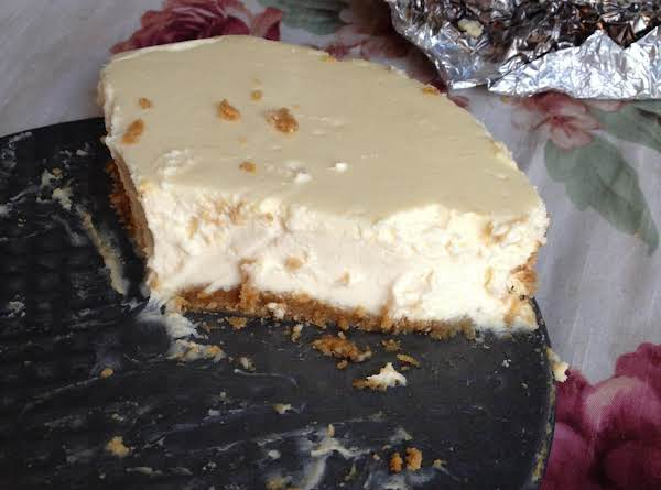 I Was Unable To Get A Good Pic Begore Everyone Devoured It! This Cheesecake Also Does Not Crack!!