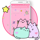 Pusheen Cat Lovely Pink Theme