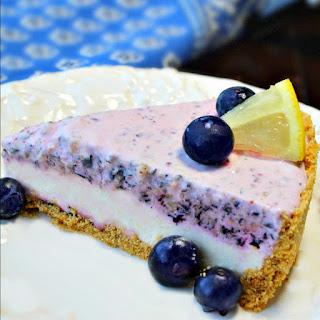 Frozen Lemon Blueberry Cheesecake Pie