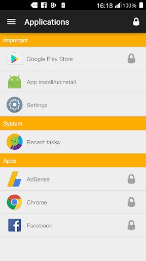 アプリをロック