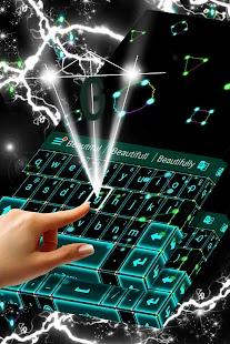 Neon Lightning Keyboard Theme - náhled