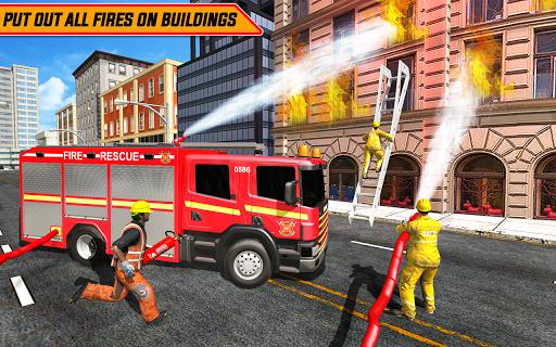 Télécharger Gratuit American FireFighter Truck : City Emergency Rescue APK MOD (Astuce) screenshots 1