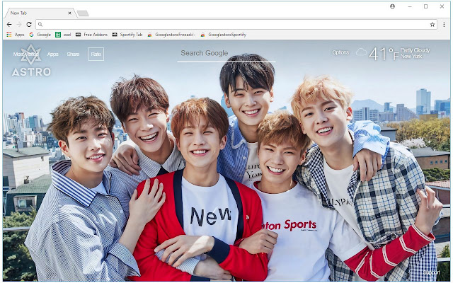 Astro Wallpapers Kpop New Tab Themes Free Addons