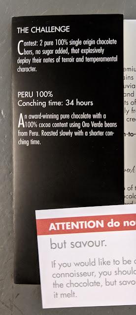100% peruvian zotter bar