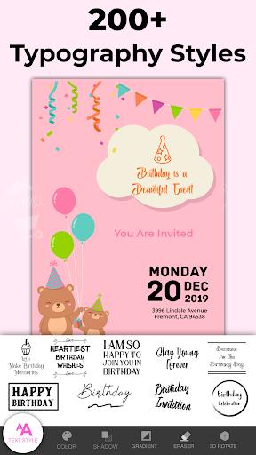 Invitation Maker Free, Paperless Card Creator android2mod screenshots 5