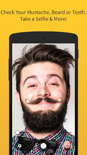 Mirror Mustache Makeup Selfie