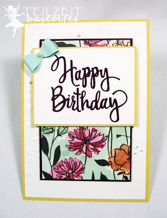 Stampin' Up! - Inkspire_me #366, Sketch Challenge, Stylized Birthday, Geburtstag, DP Geteilte Leidenschaft, DSP Share what you love