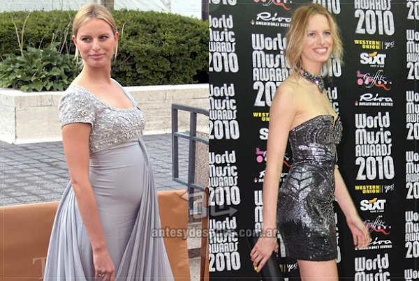 Antes y despues de Karolina-Kurkova embarazada