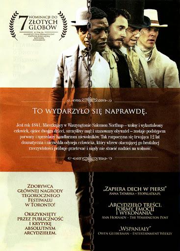 Tył ulotki filmu 'Zniewolony. 12 Years A Slave'