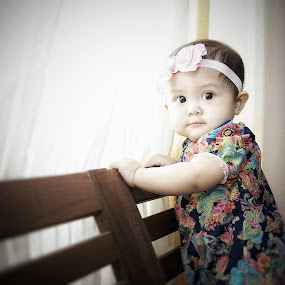 Morning light by Mohd Nazmie Ab Malek - Babies & Children Children Candids ( fashion, beautiful, windows, cute, sunlight, kids portrait, love, girl, dress, lifestyle, baby, smile, light, KidsOfSummer )