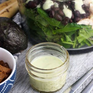 Creamy Avocado Apple Cider Vinegar Salad Dressing.
