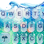 Water Keyboard - Blue Glass Water Keyboard Theme