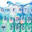 دانلود Water Keyboard - Blue Glass Water Keyboard Theme اندروید