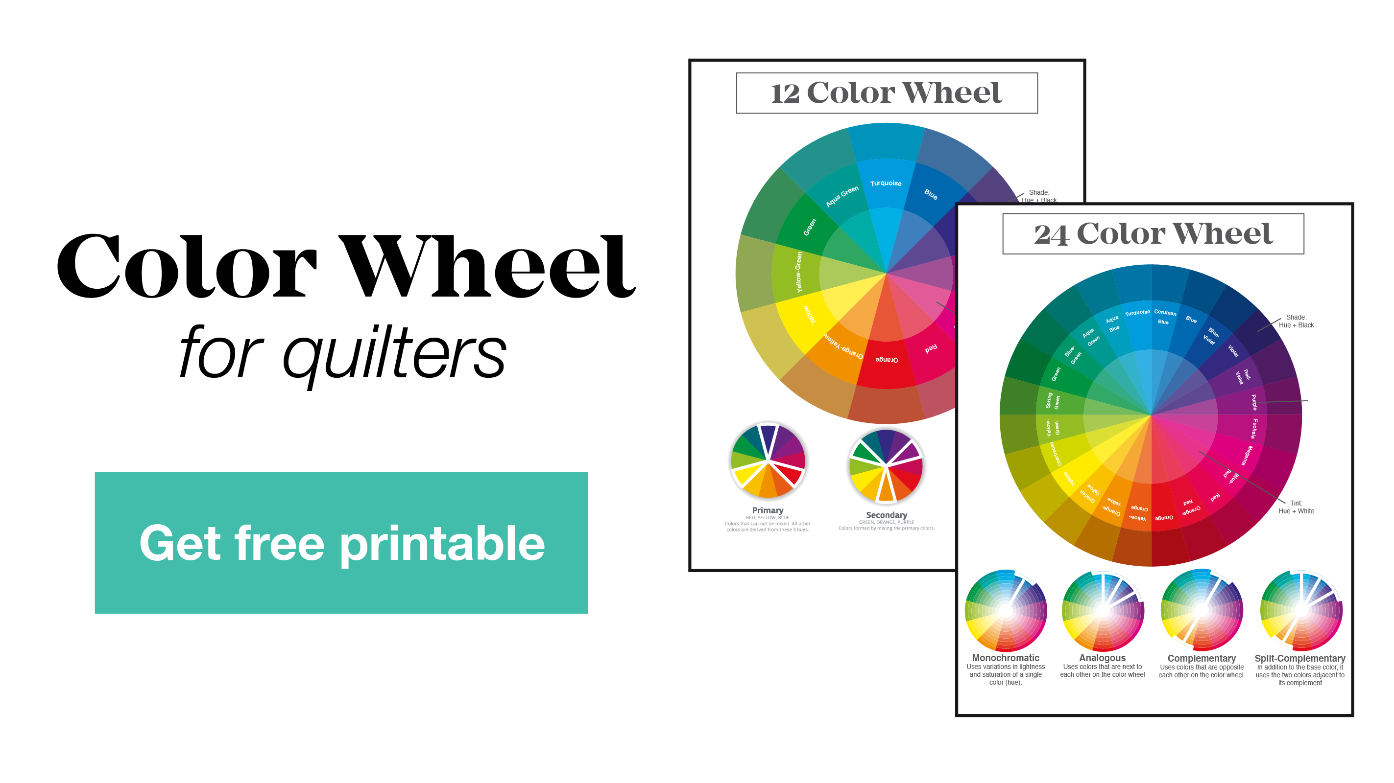 Click here to get your free printable color wheel