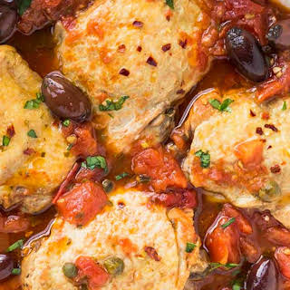 Pressure Cooker Chicken Puttanesca.