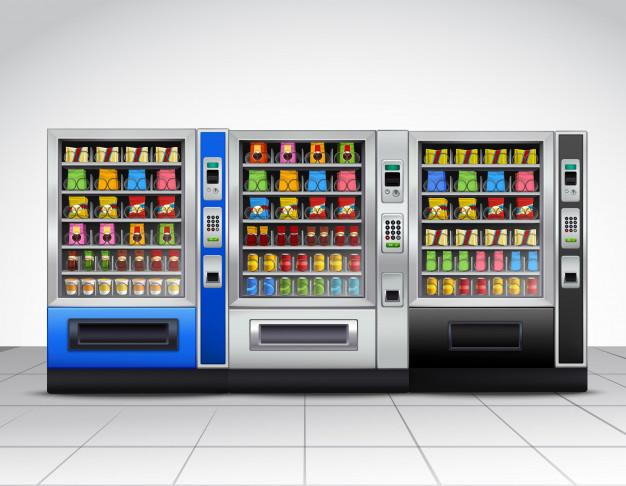 Realistic vending machines front view Free Vector