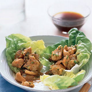 Chicken and Cashews in Lettuce Wraps.