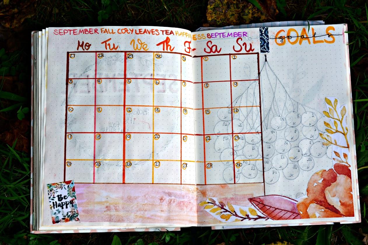 Bullet Journal September Spreads – Baby, it's fall outside… – Lost
