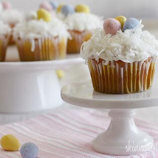 Skinny Coconut Cupcakes.