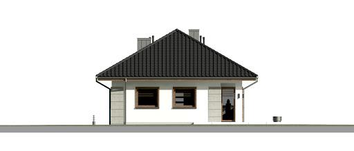 Dom przy Pastelowej 15 bis - Elewacja tylna