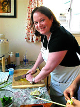 Photo: Anita slicing lemon grass