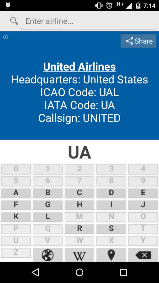 Airline code iata icao android apps on google play airline code iata icao screenshot sciox Image collections