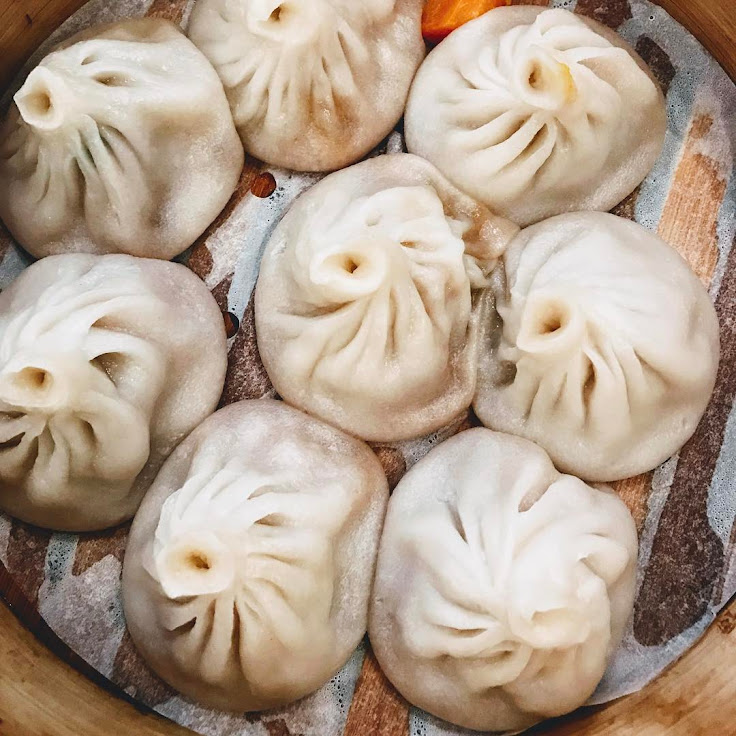 Soup dumplings at Shanghai Cuisine.