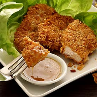 Paleo Macadamia-Crusted Chicken with Honey-Mustard Sauce