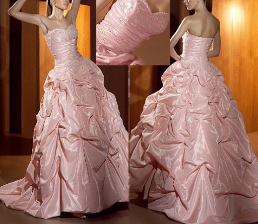 Pink Bridal Wedding Gown