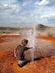 Chaffin Geyser erupting