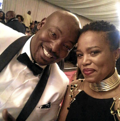 Onicca Moloi and her husband Kabelo during happier times.