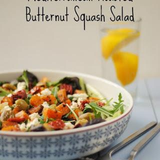Mediterranean Roasted Butternut Squash Salad.