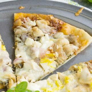 Two Pesto Chicken Pizza with Mozzarella and Ricotta Recipe